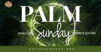 Palm Sunday Service Church Banne Facebook Event Cover template