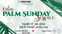 Palm Sunday Service Miniatura de YouTube template