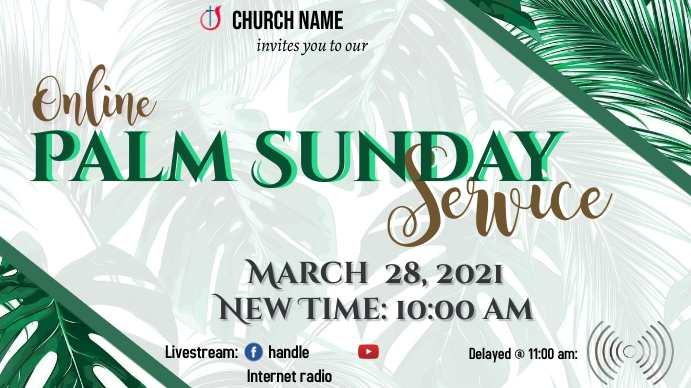 Palm Sunday Service YouTube Duimnael template