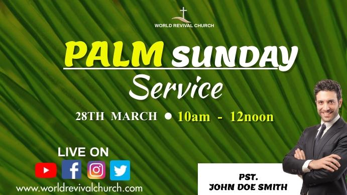 PALM SUNDAY SERVICE Digital na Display (16:9) template