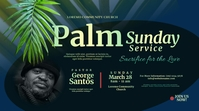 Palm Sunday Service Twitter Post template