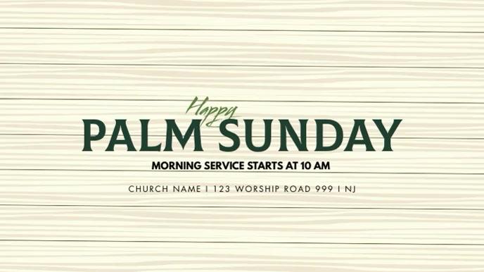 Palm Sunday Template Pantalla Digital (16:9)