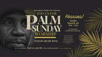 Palm Sunday Worship Twitter Post template