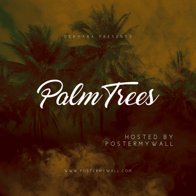 Palm Trees CD Cover Template