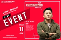 Pamflet konser Pamflet Band Live Events Этикетка template