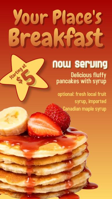 Pancake #1G Digital Display (9:16) template