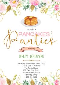 Pancake and panties party invitation