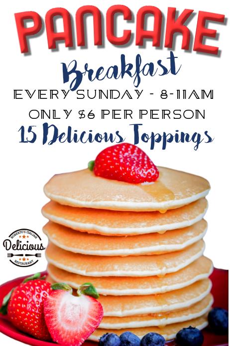 Pancake Breakfast Deal Poster Template