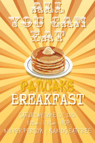 50 customizable design templates for pancake breakfast postermywall