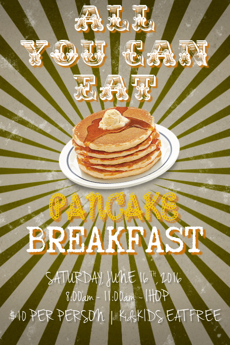 pancake breakfast template