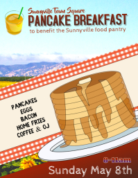 pancake breakfast fundraiser flyer template