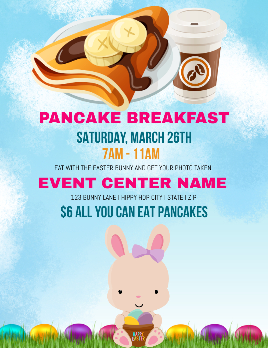 Pancake Breakfast Flyer (US Letter) template