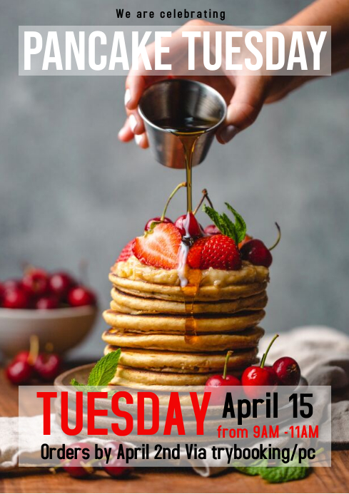 Pancake flyer A4 template