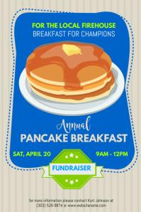 Pancake Fundraiser Poster