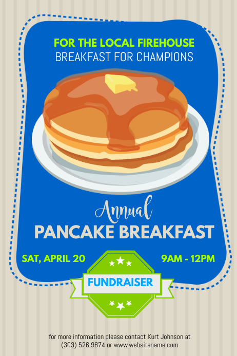 copy of pancake fundraiser poster postermywall. Black Bedroom Furniture Sets. Home Design Ideas