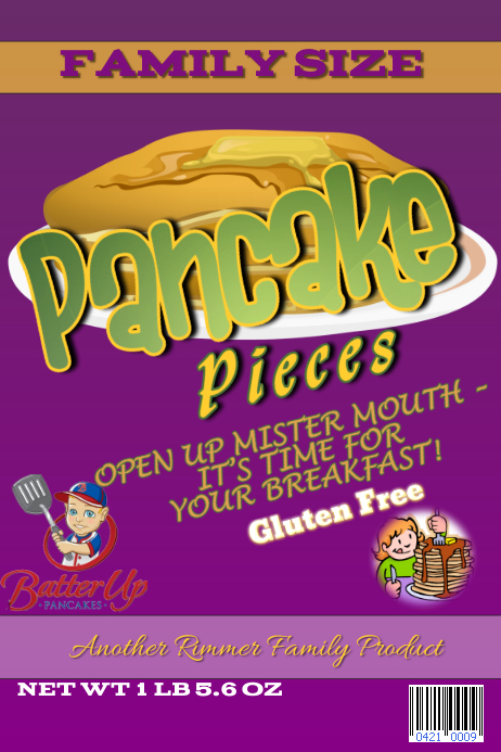 pancake pieces cereal box template postermywall
