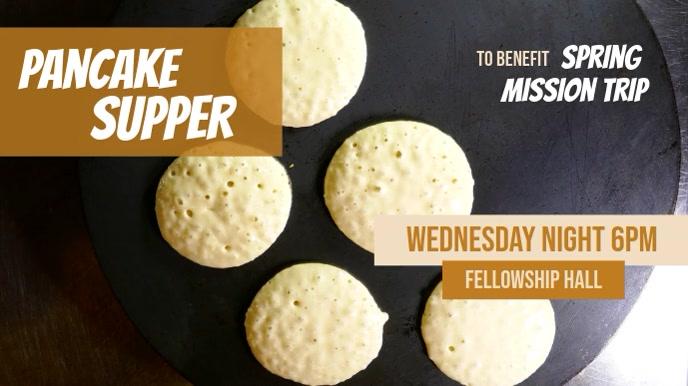 Pancake Supper Benefit fundraiser Video Screen