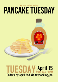 Pancake Tuesday flyer