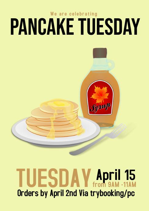 Pancake Tuesday flyer