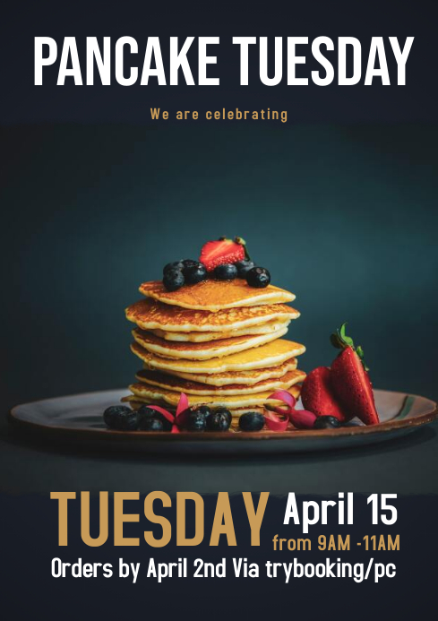 Pancake Tuesday flyer A4 template