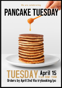 Pancake Tuesday flyer template