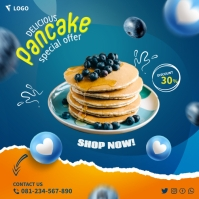 Pancakes Square (1:1) template