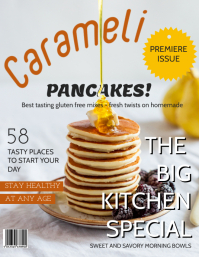 Pancakes Food Magazine cover Template