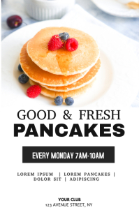 Pancakes menu flyer template