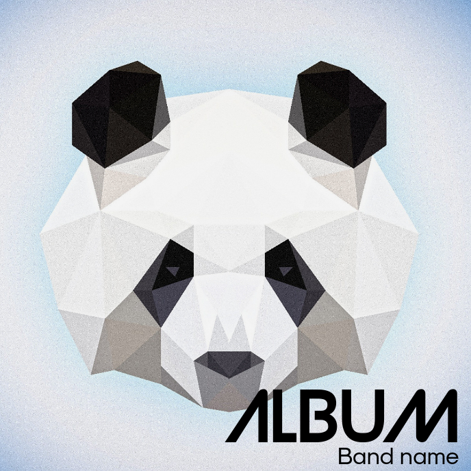 Panda Album cover flyer template