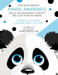 Panda AWARENESS ใบปลิว (US Letter) template