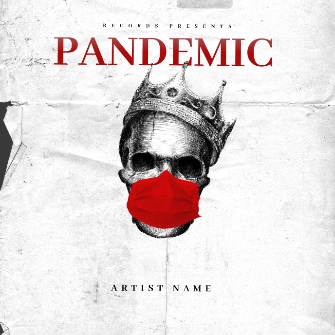 Pandemic Trap Mixtape Cover Art Template