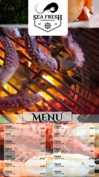 PANTALLA AD SEAFOOD Digital Display (9:16) template