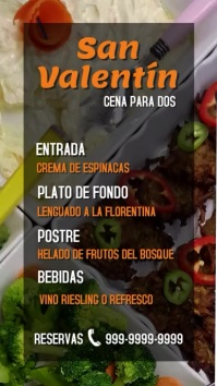 pantalla digital de menú de san valentín Ekran reklamowy (9:16) template