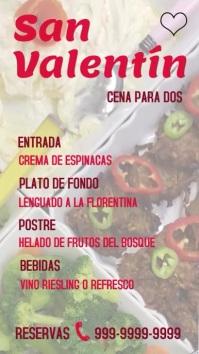 pantalla digital de menú de San Valentín 数字显示屏 (9:16) template