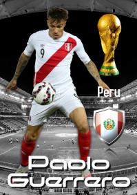 Paolo Guerrero poster A2 template