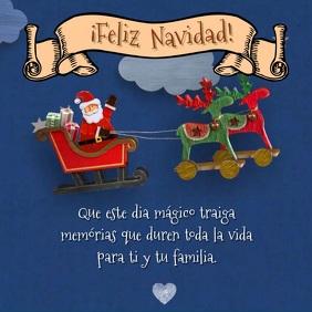 Papa Noel Flying Reindeers Animation