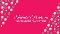 pink independent business card Визитная карточка template
