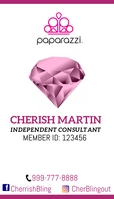 paparazzi independent consultant business car template