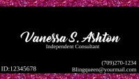 Paparazzi jewelry business card Biglietto da visita template