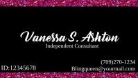 Paparazzi jewelry business card Visitkort template
