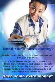 Paper Boy Job Opportunity Flyer