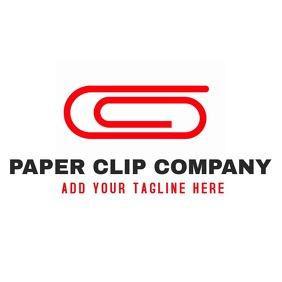 paper clip logo company icon