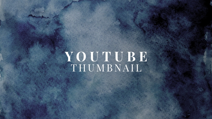 Paper Watercolor Youtube Thumbnail template