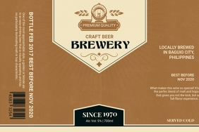 Parchment Brown Brewery Label template