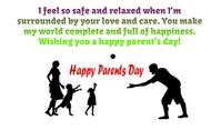 Parent Day Etykietka doczepna template