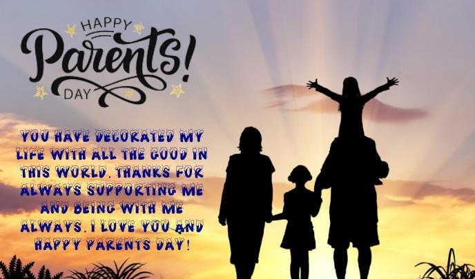 Parent Day Tanda template