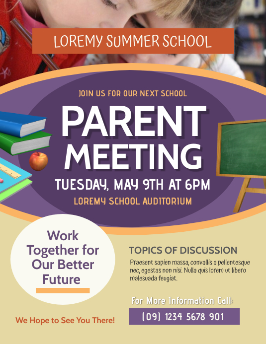 Parent Meeting Flyer