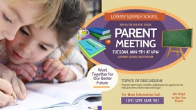 Parent Meeting Twitter Post template