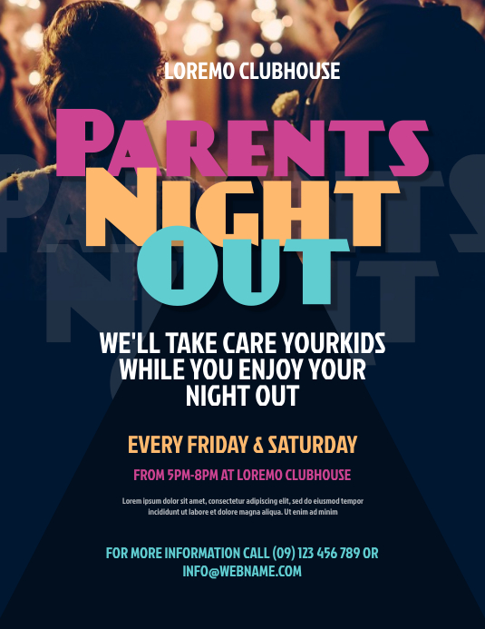 parents night out flyer flyer template