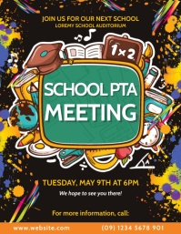 Parent Teacher Association Meet Up Flyer template
